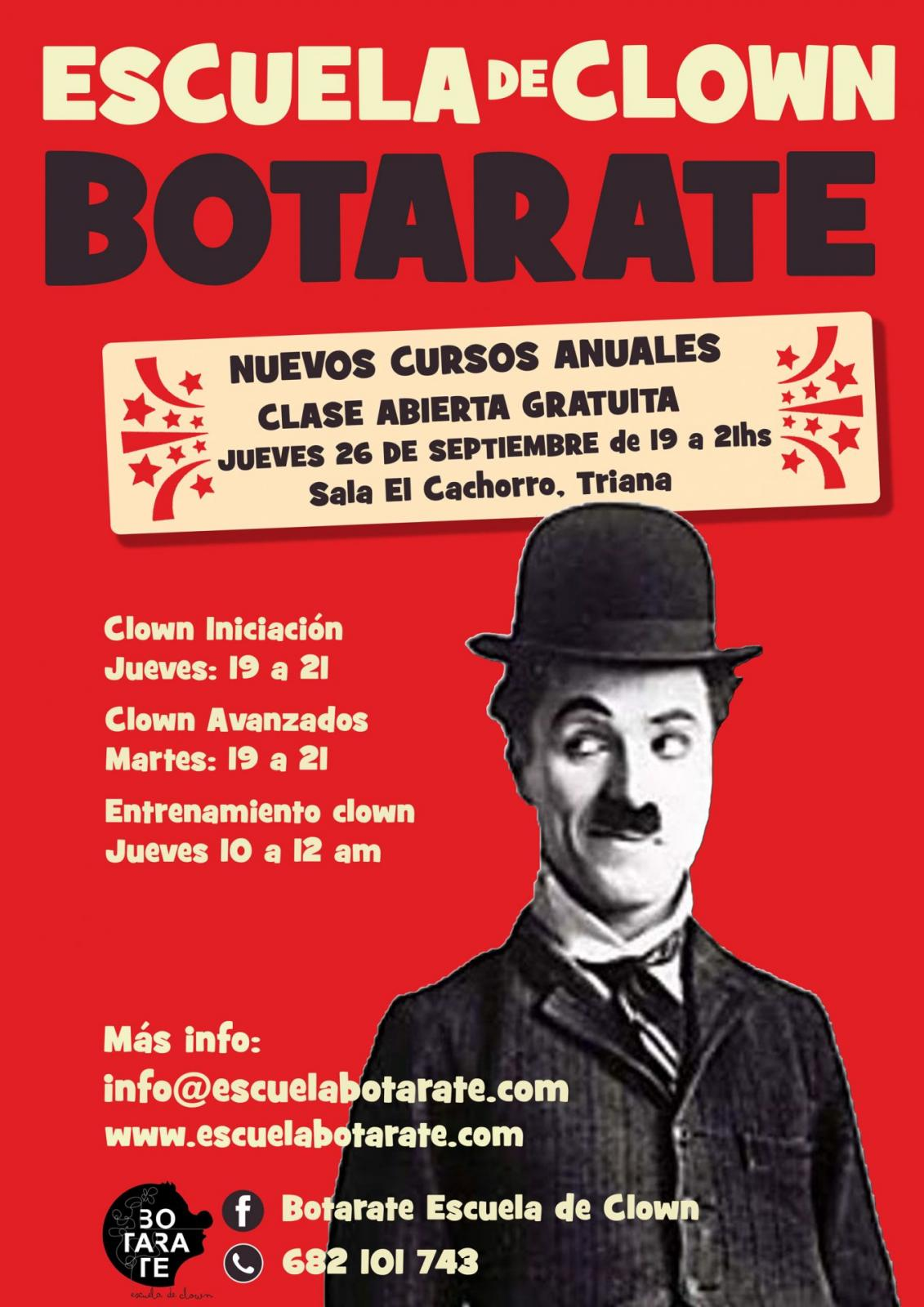 Cartel de anuales de clown